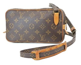 正品LOUIS VUITTON Marly Bandouliere Monogram斜挎包肩包-$ 485.00
