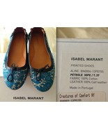 ISABEL MARANT Blue Ballet Shoes Leather Flats Euro 37 w/ Box SOLD OUT RA... - $96.57