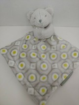 Blankets & beyond Baby Security Blanket gray bear white green circles dots - $19.79