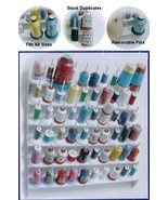 Wall Mount Spool Thread Rack Sewing Room Storage Bobbin Holder Knit Organizer - $43.30
