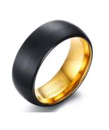 8mm Black Matt Surface Tungsten Rings for Men Bridegroom Wedding Band - $25.99 - $29.99