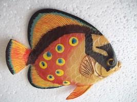 Tropical Fish Wall Plaque Tiki Bar Beach Pool Nautical Decor Size 5.25 i... - $8.39