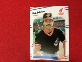 Baseball Trading Card Fleer 1988 #614 Ken Schrom (SS63) - $4.17