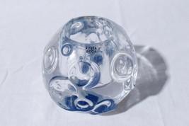 Vtg Kosta Boda Art Glass Snowball Crystal Ripples Votive Tealight Candle... - $30.69