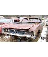 Dodge Charger RT junkyard 24X36 inch poster, muscle car, classic - $18.99
