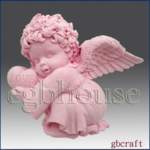 Valentine Angel Boy - Detail of high relief sculpture - Silicone Soap/Cl... - $26.14
