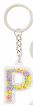 Disney Parks Mickey Mouse Bead Letter P Initial Keychain NEW - $15.90