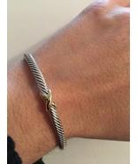 David Yurman x bracelet  4mm Bracelet With 18K Gold (Medium) - $215.00