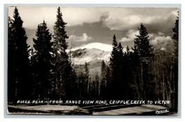 Vintage 1940's RPPC Postcard Pikes Peak View Road Cripple Creek Colorado - $25.71