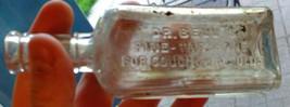 "Dr. Bell's Pine-Tar Honey for Cough 5 1/2"" Antique Glass Medical Bottle VTG - $9.49"