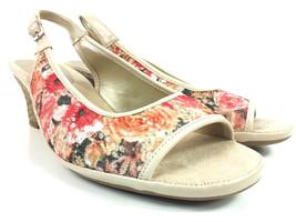Aerosoles Dozen Roses Wedge Slingback Open Toe Womens Sandals  8.5 Wide - $23.25