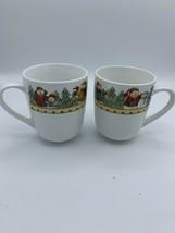 "Lot/2 Gibson SNOWMEN Christmas Holiday Coffee Mugs Cups 4"" High - $10.00"