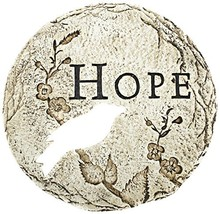 Roman Bird Cut-Out Hope Decorative Patio Garden Stone, 12-Inch - $33.84