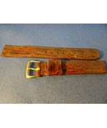 14MM VINTAGE NOS HAMILTON SIGNED LEATHER WATCH BAND WITH SIGNED CLASP - $125.00
