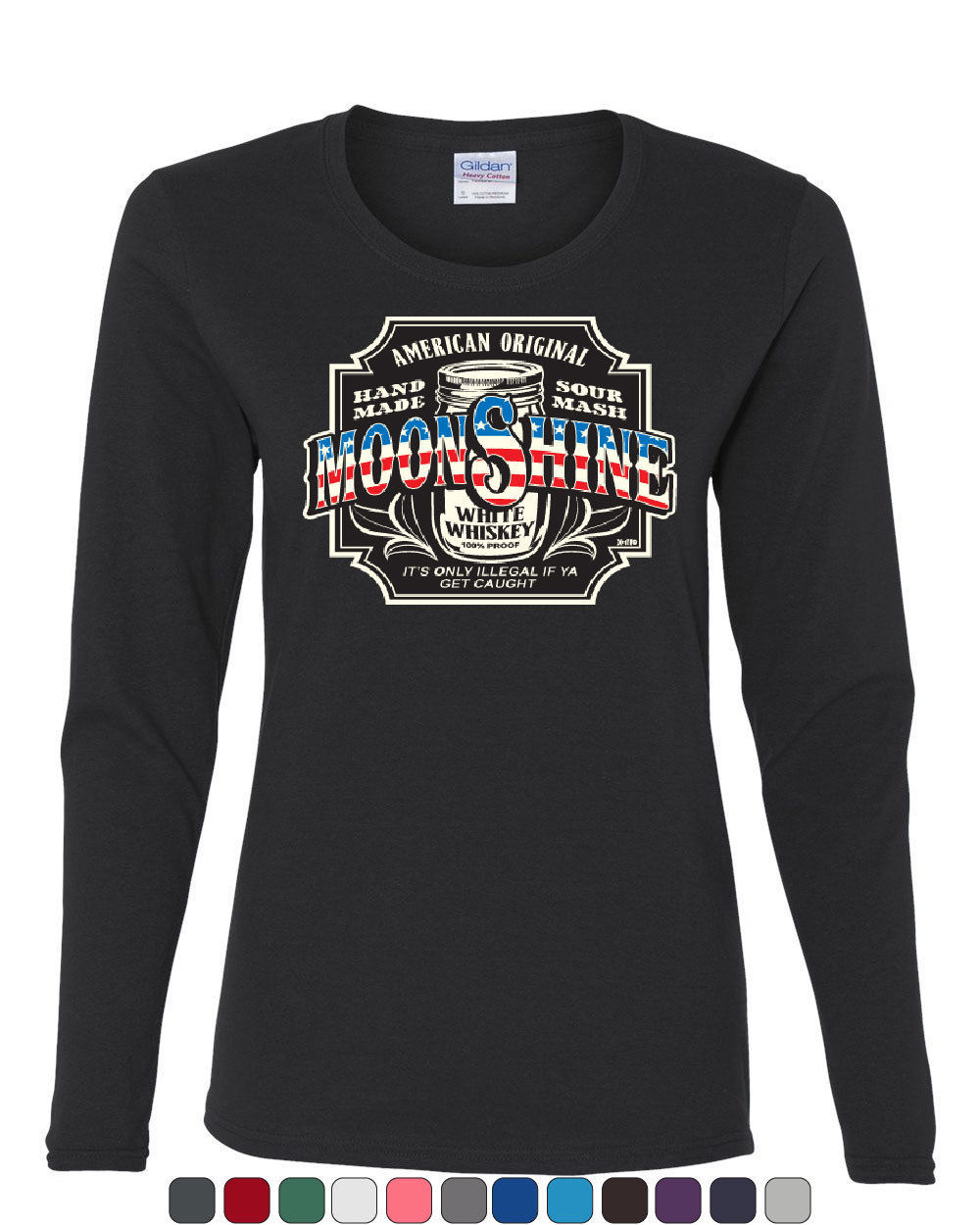 Primary image for Moonshine American Original Long Sleeve T-Shirt Tennessee Whiskey