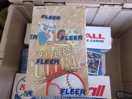 1993 Fleer Ultra Baseball Cards Unopened Box 36 Packs Sealed Series 1 Item 476 - $21.78
