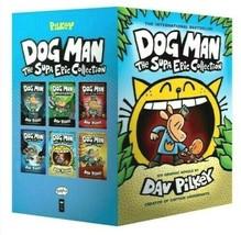Perro Man: The Supa Epic Colección Libros 1-6, Seis Gráfico Novelas Por Dav