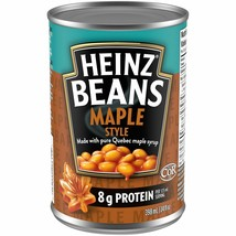 12x HEINZ Maple Style Beans 398ml/14oz -From Canada -FRESH & DELICIOUS! - $49.25