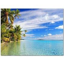 Beach Ocean Ceramic Tile Mural Kitchen Backsplash Bathroom Shower BAZ400035 - $120.00 - $1,440.00