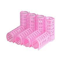 8 Pcs Girl Ladies Plastic Makeup DIY Hair Styling Roller Curlers Clips(Pink)
