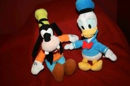 "2 Disney Mickey and Friends DONALD DUCK + GOOFY 10"" Plush Beanbag Toy  - $18.59"
