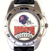 Denver Broncos NFL, Fossil Unworn Man's Rare Vintage 1995 Leather Band Watch $85 - $84.00