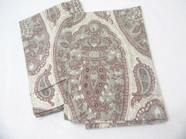 Pottery Barn Ashlyn Paisley Lilac Purple Organic Standard Shams (Set of 2) - $56.00