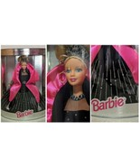 Christmas Barbie Doll Black Pink Gown Special Holiday Edition Sparkle Ma... - $29.39