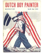 Durch Boy Painter magazine 1943 WWII article paint advertising decorating - $12.00