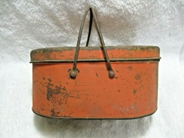 Antique Collectible Metal Two Handle Lunch Box-Display-Diner-Home-Nice P... - $39.50