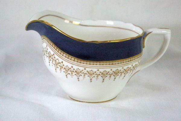 Royal Worcester Regency Blue Creamer #21686