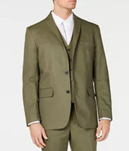 I.N.C. Men's Linen Blend Blazer, Olive Green, XL - $49.49