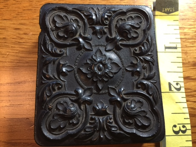 Daguerreotype Thermoplastic Union Case Berg 3-248 No Photo Rare 1857! - $50.00