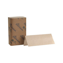 Envision 9 1/4W x 10 1/4L Brown Singlefold Paper Towels/Case of 4000 - $71.34