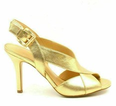 Michael Michael Kors Becky Women Leather Heeled Slingback Sandal Size US... - $70.63