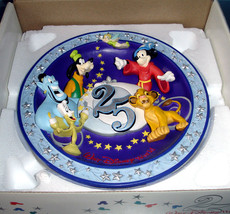 Walt Disney World 25th Anniversary 3-D Plate 1996 Magical Time in Magical Place - $24.90