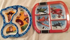Disney Pixar Toy Story 2 & Planes Baby Feeding Divided Plates Zak Learni... - $12.86