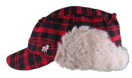 "Christys Crown ""Hunter"" Plaid Faux Shearling Ear Flap Cap Hat Medium/Large NWT image 1"