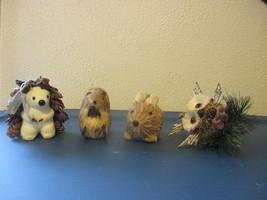 Animal ornaments lot of 4 Polar Bear Rabbit Squirrel and owl - $5.99