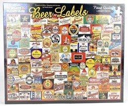 Charlie Girard Beer Label 1000 Piece Puzzle. White Mountain NEW SEALED - $52.21