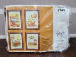Creative Circle GOURMET GALLERY  Country Kitchen Cooking Scene Embroider... - $14.50