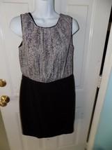 ANN TAYLOR LOFT BLACK/WHITE DRESS SIZE 4 WOMEN'S EUC - $20.75