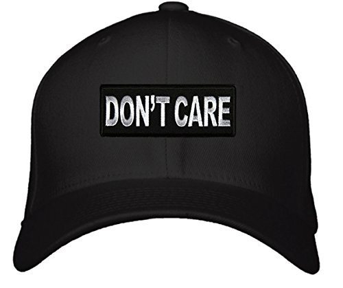 Don't Care Hat - Adjustable Mens Black/White - Funny Cap