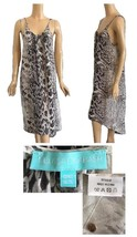 Melissa Odabash Long Silk Button Down Python Print Dress Bathing Suit Co... - $298.00