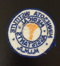 Vintage 70s Minnesota Institute of Medical Assistants (MIMA) patch image 2
