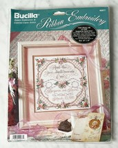Bucilla Two Shall Be As One Counted Cross Stitch & Ribbon Embroidery Kit - NEW - $18.95