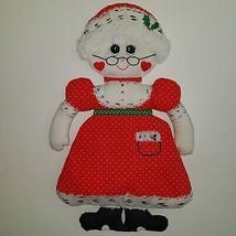 VTG Mrs Claus Fabric Wall Hanging Christmas Decoration Plush 1976 Spring... - $39.55