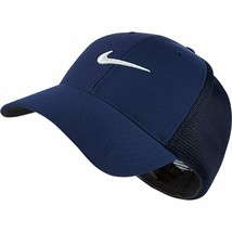 NEW! NIKE [S/M] Adult MESH-FLEXFIT Cap-Midnight Navy/White - $69.18