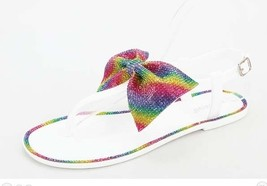 Rainbow Bowtie Thong Sandals - $19.99