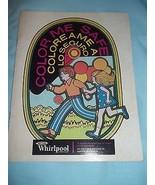 Vintage 1970 Whirlpool Color Me Safe Coloring Book Unused - $14.01